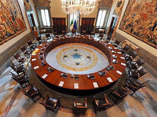 La Sala del Consiglio dei Ministri | www.governo.it