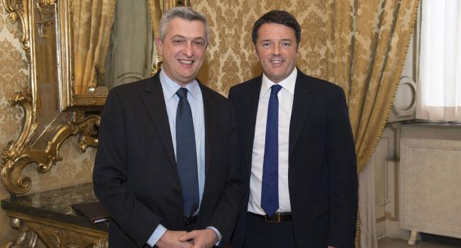Renzi riceve Filippo Grandi