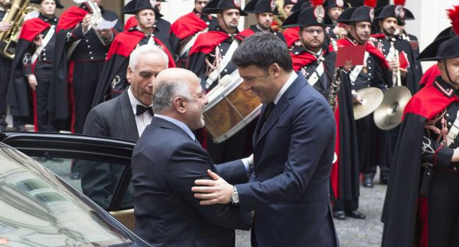 Renzi riceve Haider Al-Abadi