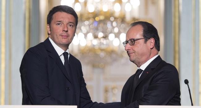 Renzi e Hollande