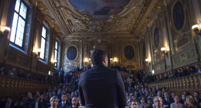 Renzi alla università Paris-Sorbonne
