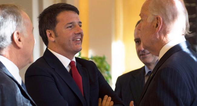Matteo Renzi incontra Joe Biden a Villa Taverna