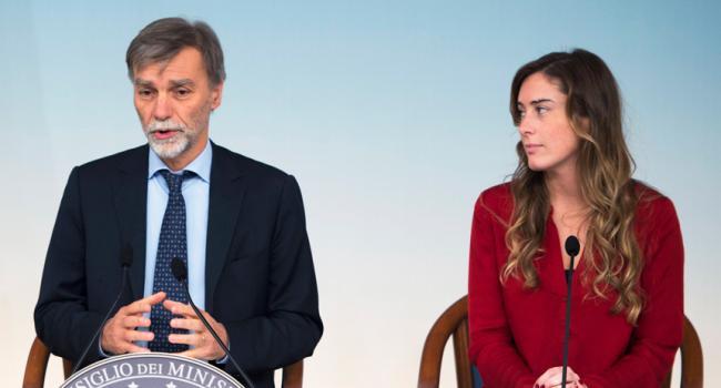 Consiglio dei Ministri n.94, Boschi e Delrio in sala stampa