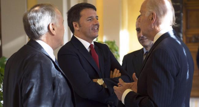 Renzi con Joe Biden