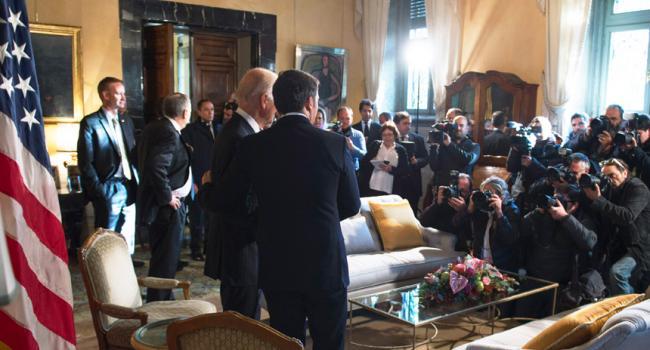 Incontro Renzi-Biden a Villa Taverna