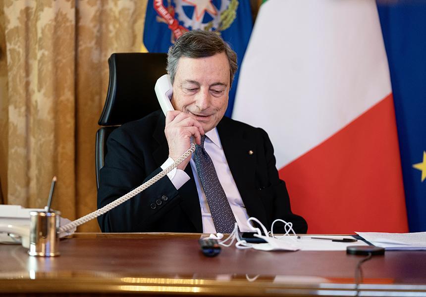 Draghi sente von der Leyen: