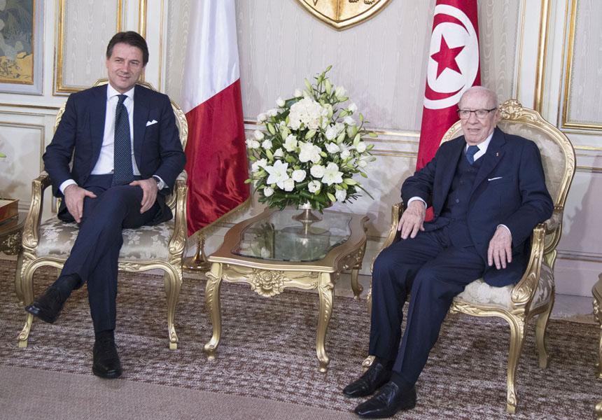 FIL9966 i 0 - Prime Minister Conte in Tunis