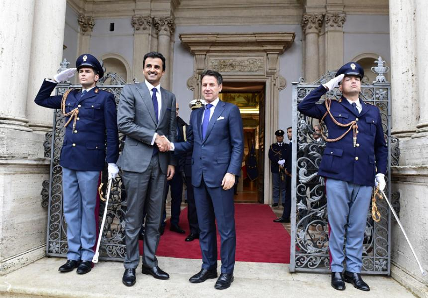 h FIL0380 - Prime Minister Conte meets with the Emir of the State of Qatar
