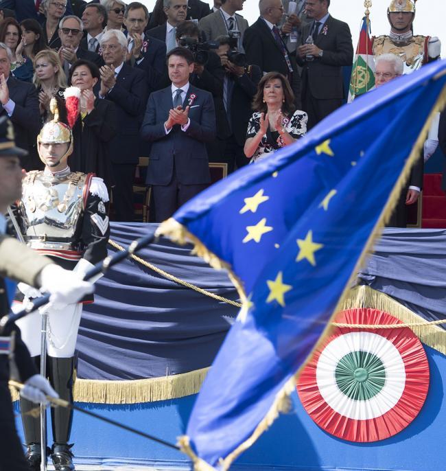 Il Presidente del Consiglio Giuseppe Conte alle celebrazioni per la Festa Nazionale della Repubblica