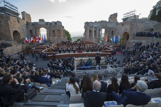 Il concerto dell'Orchestra Filarmonica della Scala al Teatro Greco di Taormina