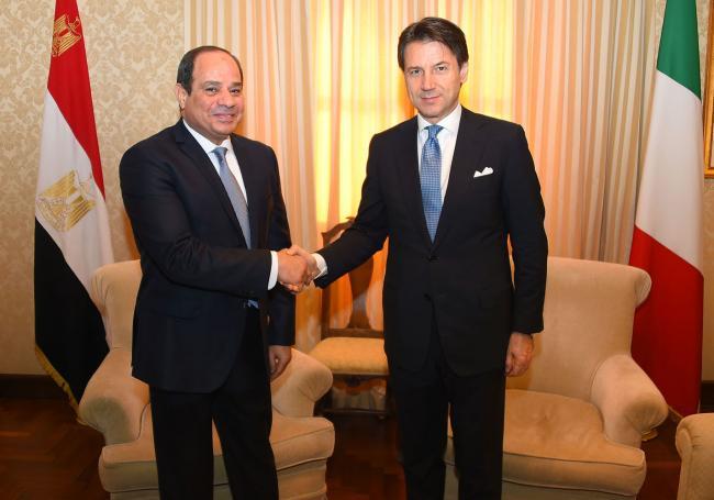 #ForLibyaWithLibya, incontro bilaterale Conte-Al Sisi - Bilateral meeting Conte-Al Sisi