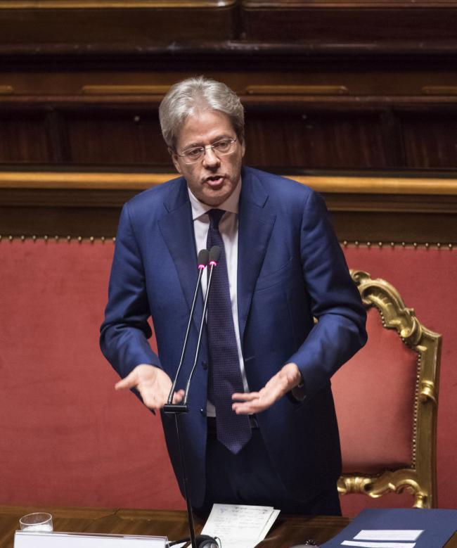 Gentiloni in Senato