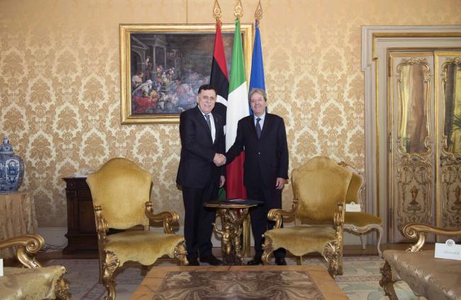 Gentiloni riceve Fayez al-Sarraj