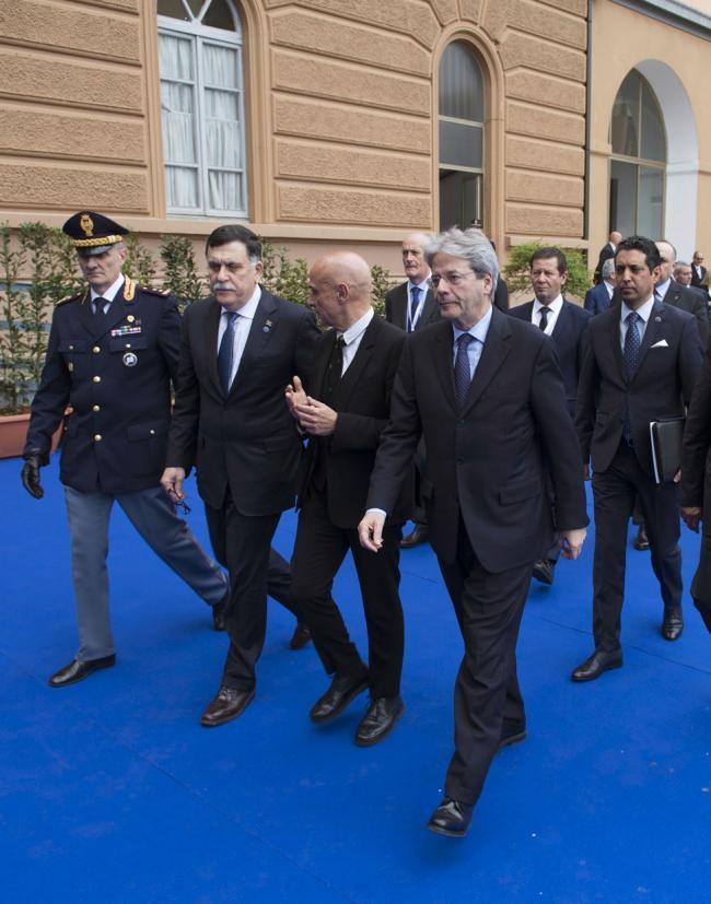 Il Presidente Gentiloni partecipa alla Conferenza sulla Rotta del Mediterraneo Centrale