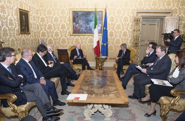 Gentiloni incontra Rete Imprese Italia