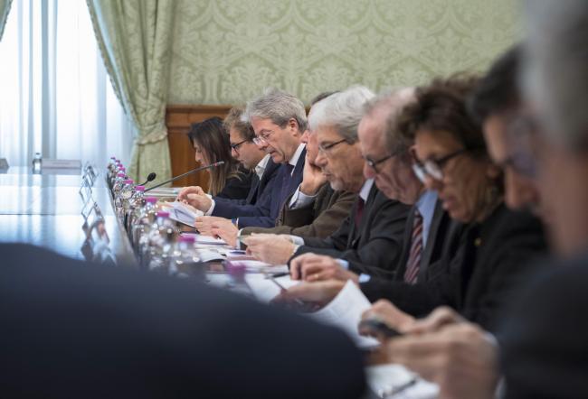 La riunione del Cipe a Palazzo Chigi