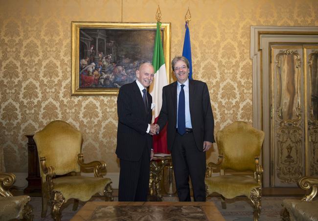 Gentiloni riceve il Direttore Generale dell'OIM William L. Swing