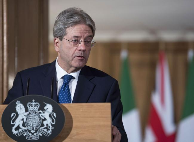 Conferenza stampa Gentiloni-May
