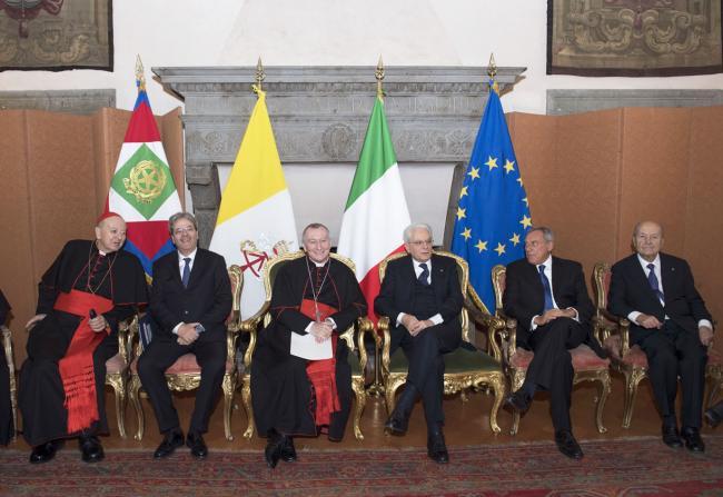 Gentiloni alla cerimonia per la ricorrenza dei Patti Lateranensi
