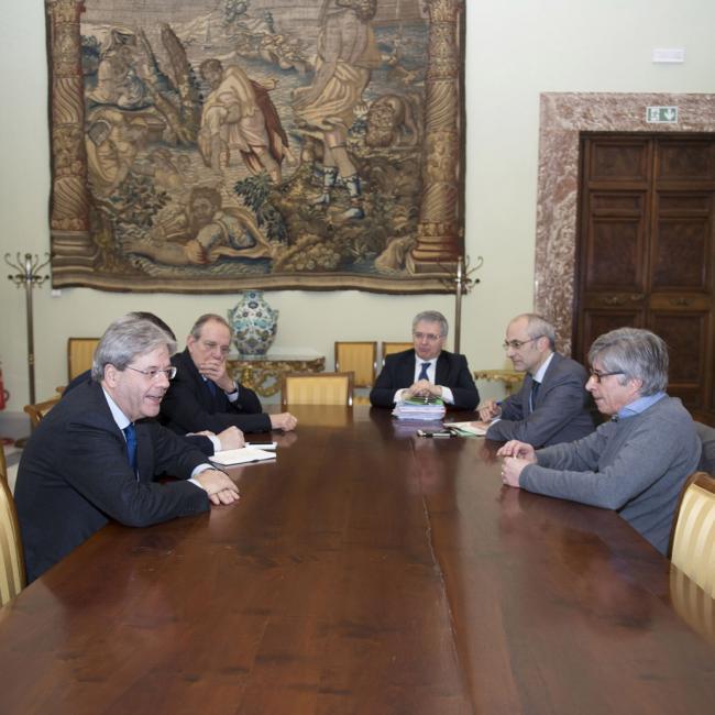 Terremoto, riunione a Palazzo Chigi