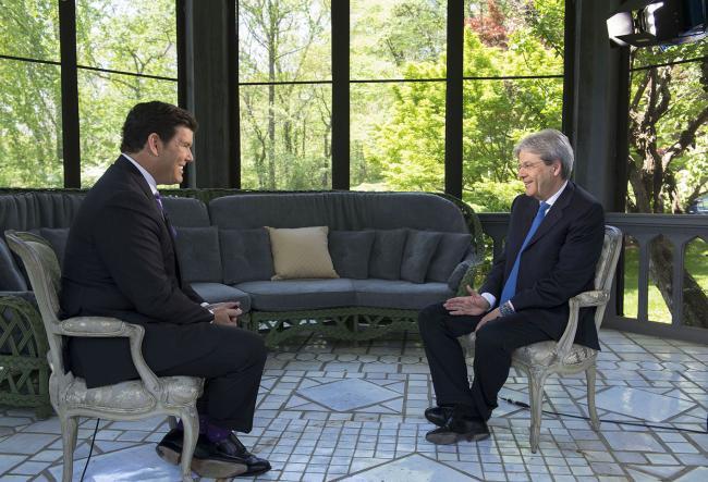 Il Presidente Gentiloni intervistato da Bret Baier di Fox News