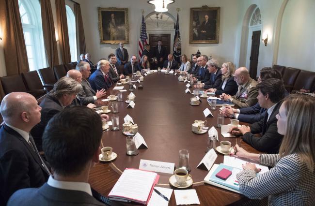 Incontro Gentiloni - Trump alla Casa Bianca
