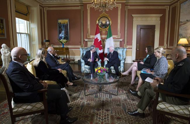 Gentiloni ad Ottawa incontra il Governatore Generale del Canada, David Johnston