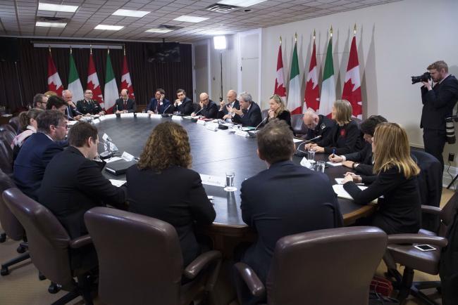 Gentiloni ad Ottawa incontra il Primo Ministro canadese Trudeau
