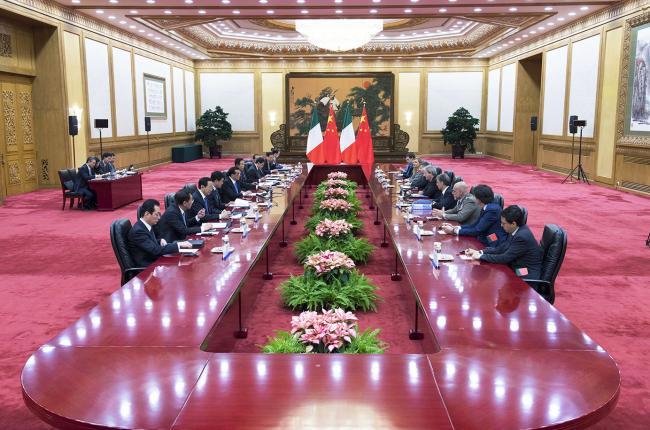 Il Presidente Gentiloni incontra il Primo Ministro cinese Li Keqiang