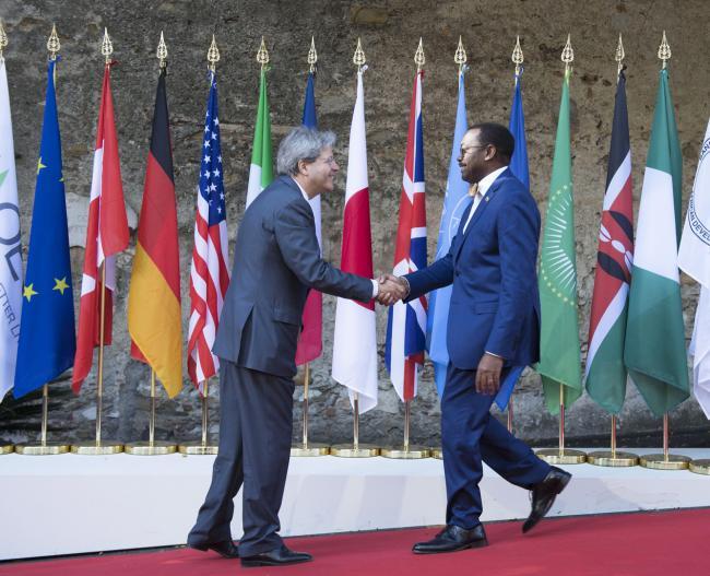 Summit G7 Taormina, Gentiloni accoglie il Presidente della Banca Africana per lo Sviluppo