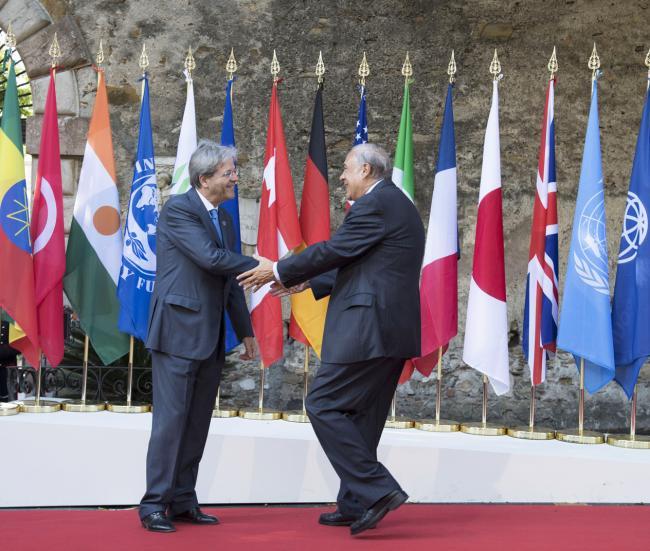 Summit G7 Taormina, Gentiloni accoglie il Segretario Generale dell'OCSE
