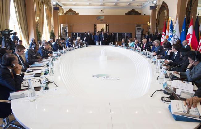 """La sessione """"outreach"""" del Summit G7 Taormina"""