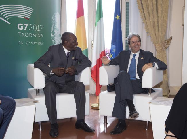 Incontro bilaterale Gentiloni - Condé