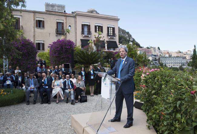 Il Presidente Gentiloni in conferenza stampa