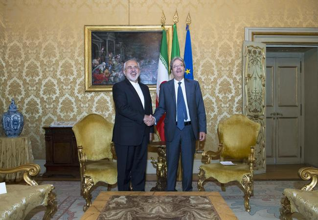 Gentiloni riceve Mohammad Javad Zarif