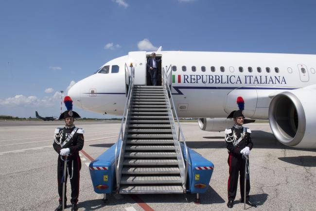 Il Presidente Gentiloni arriva al Trieste