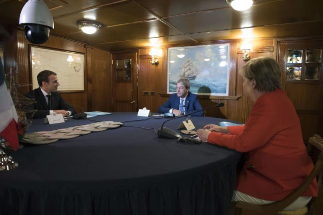 Incontro trilaterale Gentiloni, Merkel, Macron