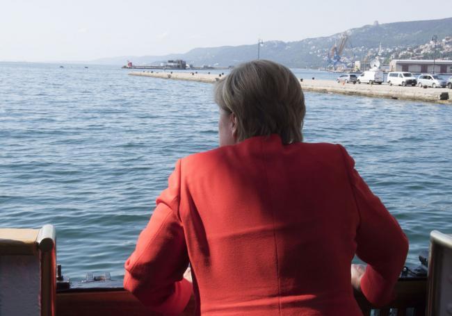 La Cancelliera tedesca Angela Merkel sulla Nave Palinuro