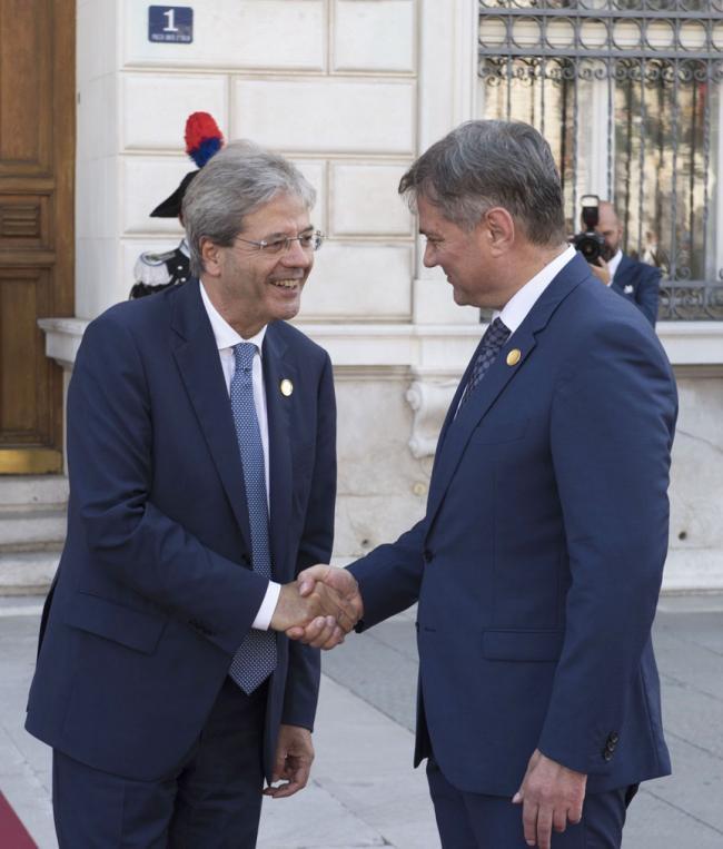 Gentiloni con il Primo Ministro della Bosnia ed Erzegovina Denis Zvizdić