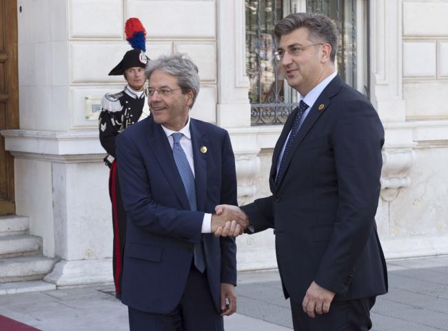 Gentiloni con il Primo Ministro della Croazia Andrej Plenković