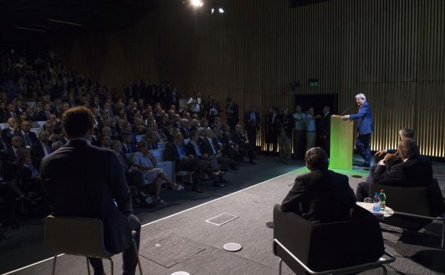 Gentiloni all'inaugurazione della nuova sede di Bnl Gruppo Bnp Paribas