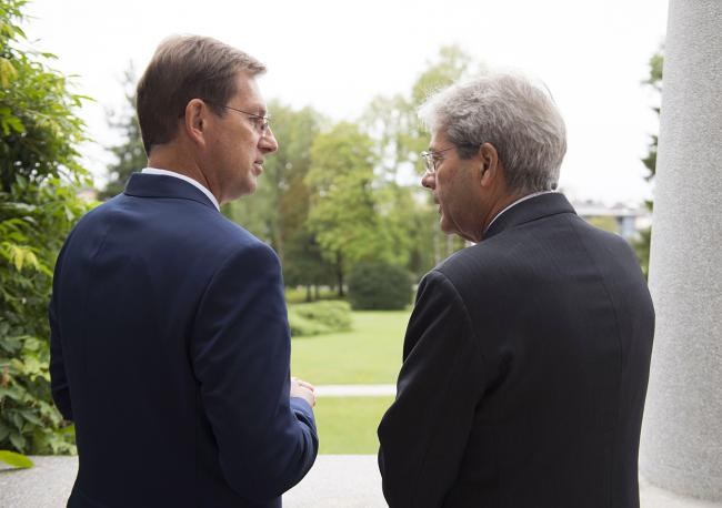 Gentiloni incontra il Primo Ministro sloveno Miro Cerar