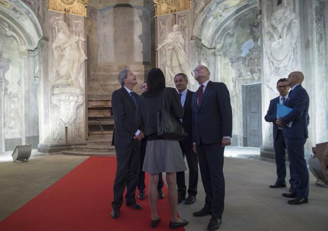 Gentiloni visita a Praga con il Primo Ministro ceco Bohuslav Sobotka