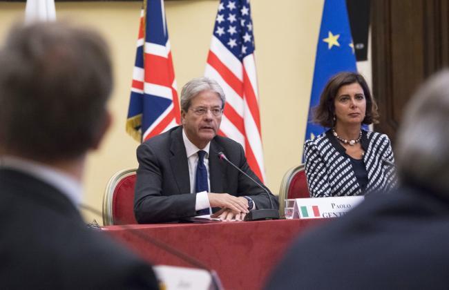Gentiloni alla Conferenza dei Presidenti delle Camere Basse dei Paesi del G7