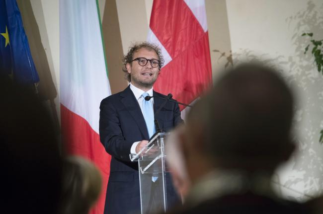 """Lotti alla presentazione de """"Il viaggio della Costituzione"""" a Milano"""