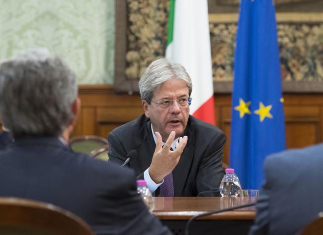 Il Presidente Gentiloni in riunione con la Cai