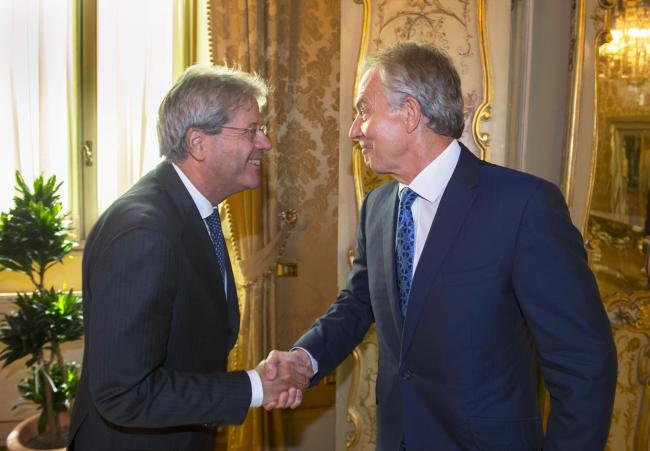Gentiloni riceve Tony Blair
