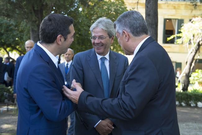 Gentiloni a Corfù per il Vertice intergovernativo Italia-Grecia