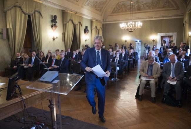 Gentiloni interviene all'Accademia dei Lincei