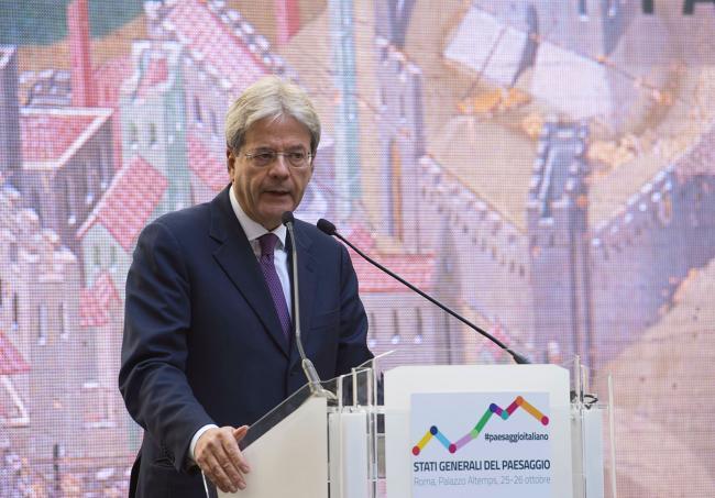 Il Presidente Gentiloni interviene agli Stati Generali del Paesaggio